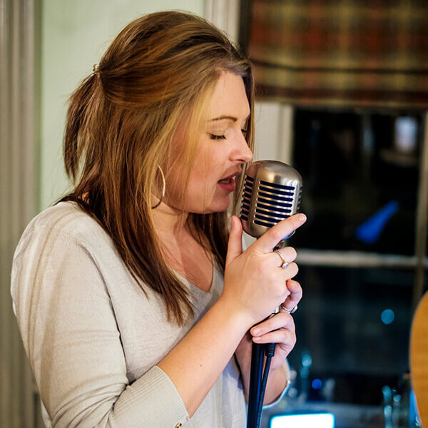 Singing in a pub in Farnham, Surrey